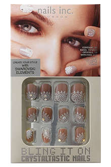 NAILS INC Bling It On Crystaltastic nude lace collection