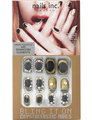 NAILS INC Bling It On Crystaltastic luxurious black and gold collection