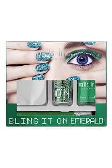 NAILS INC Bling It On Emerald collection