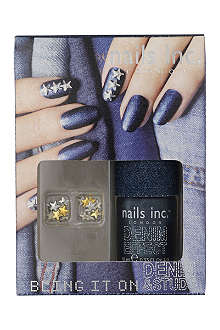 NAILS INC Bling It On Denim & Studs Collection