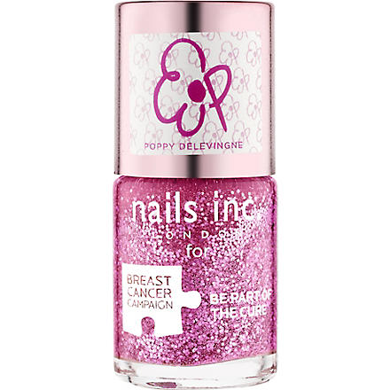 NAILS INC Breast Cancer Awareness Poppy Delevingne nail polish