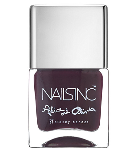 NAILS INC Alice & Olivia nail polish (Deep+aubergine