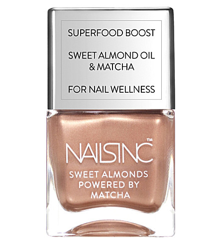 NAILS INC Sweet Almond Powered By Matcha nail polish 14ml (Mayfair market