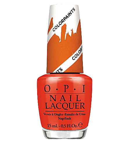OPI Colourpaints Collection nail polish (Chromatic+orange