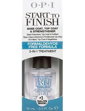 OPI Start To Finish base coat, top coat and strengthener