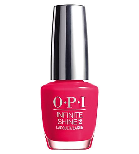 OPI Infinite Shine nail polish (She went on and on
