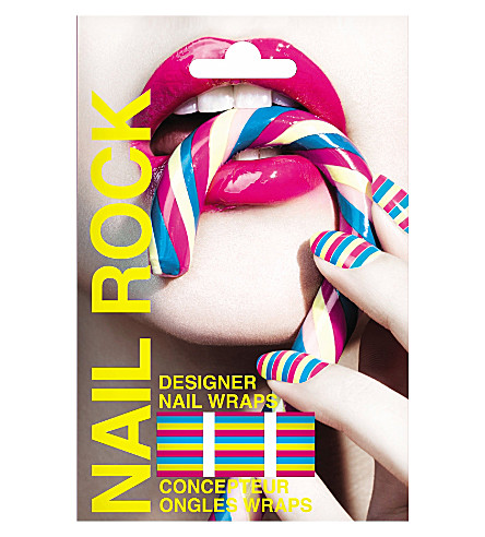 NAIL ROCK Striped nail wraps