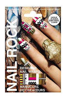 NAIL ROCK Tribal Gold nail wraps