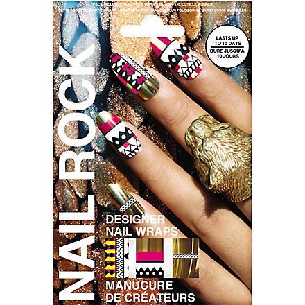 NAIL ROCK Tribal Gold nail wraps