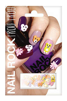 NAIL ROCK Frou Frou teddy bear nail wraps