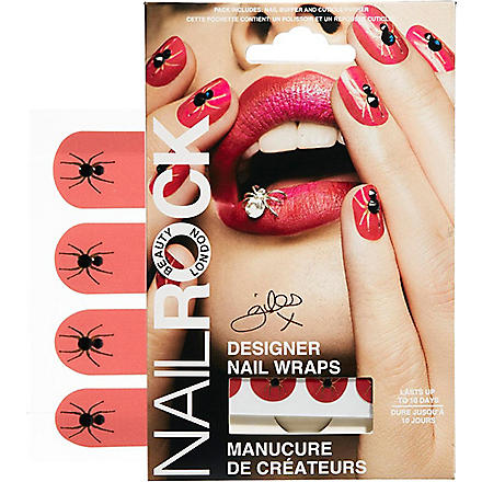 NAIL ROCK Giles Deacon spider nail wraps