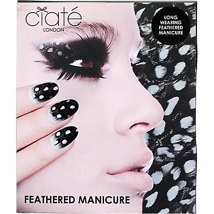 CIATE Snow Owl - What a Hoot! feathered manicure