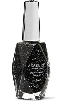 AZATURE 267 carat Black Diamond nail polish