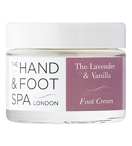 THE HAND AND FOOT SPA Lavender and vanilla foot cream 50g