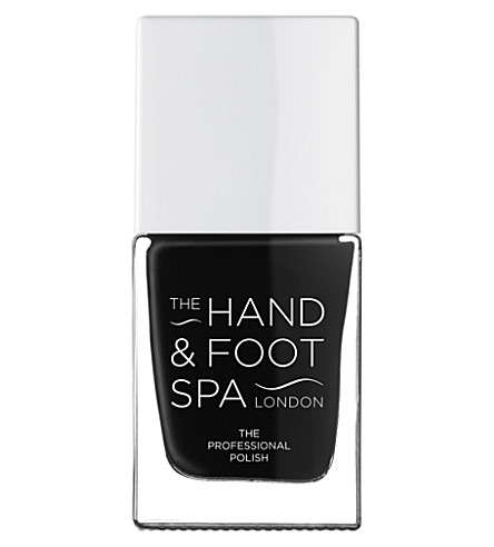 THE HAND AND FOOT SPA Blackest Black professional nail polish