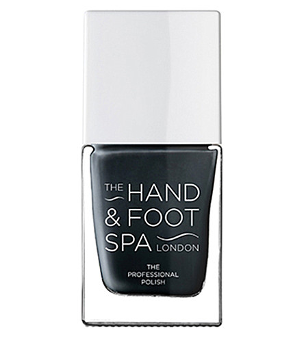 THE HAND AND FOOT SPA Charcoal grey professional nail polish