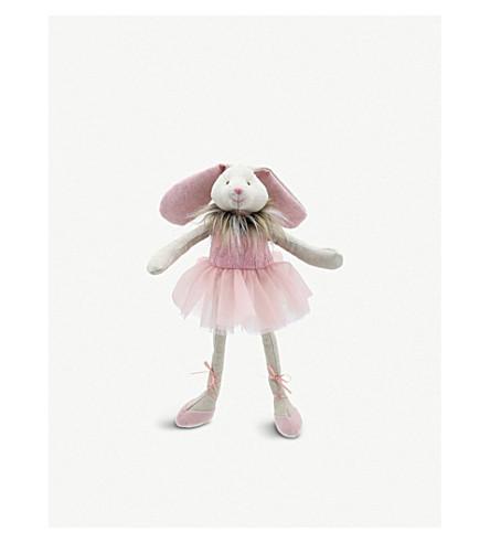 THE PUPPET COMPANY Faux fur trim ballerina bunny
