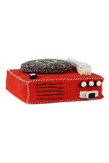 ANNE CLAIRE PETIT Hand-crocheted record player