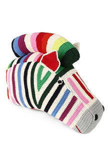 ANNE CLAIRE PETIT Knitted zebra head