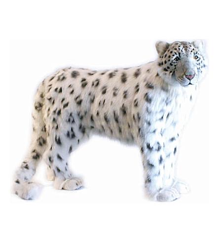 HANSA Animated snow standing leopard 95cm