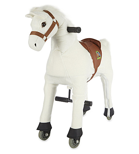 ANIMAL-RIDING Small horse ride-on toy (White
