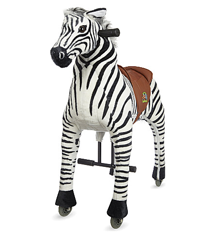 ANIMAL-RIDING Medium zebra ride-on toy (Zebra