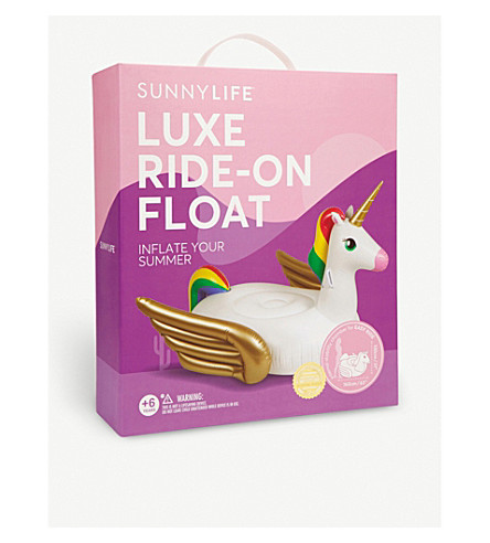 SUNNYLIFE Unicorn luxe ride-on float 130x160cm