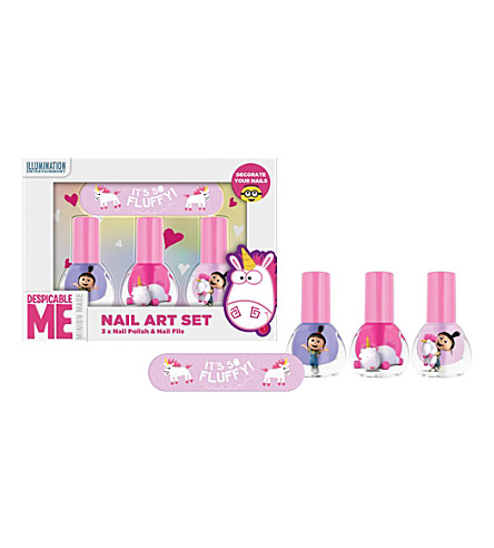 UNICORN UNIVERSE Despicable Me Unicorn nail art set