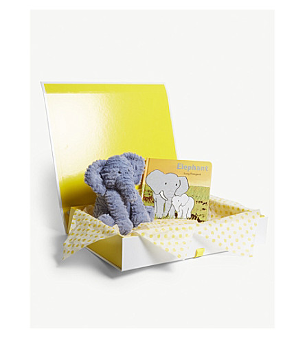 JELLYCAT Elephant soft toy and book hamper