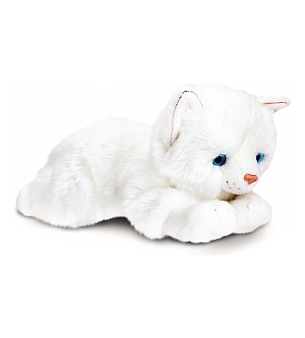 KEEL Misty white cat plush 30 cm
