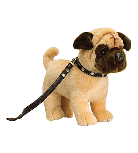 KEEL Keel standing pug on lead 30cm