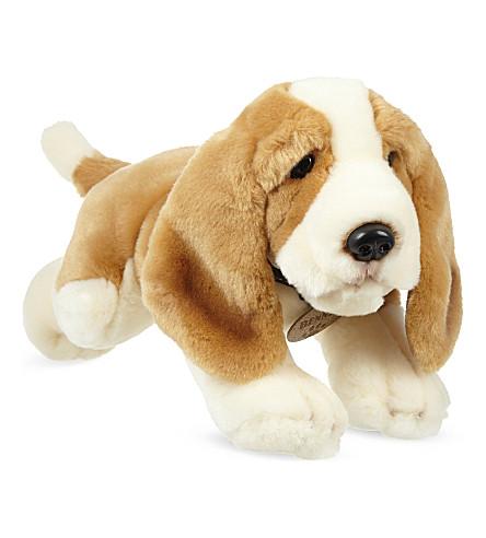 KEEL Benny basset hound soft plush toy 35cm