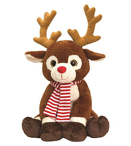 KEEL Reindeer with scarf plush toy 35cm