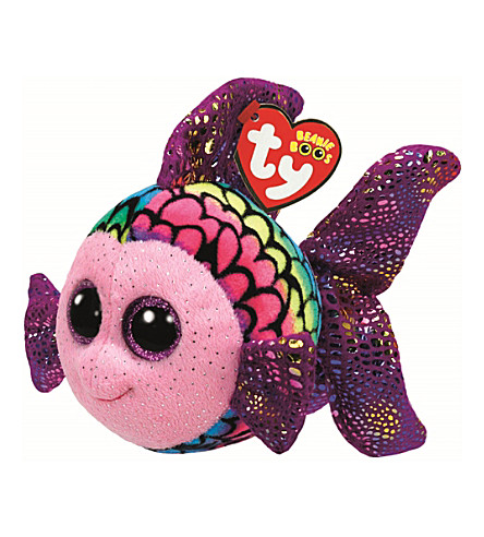 TY Beanie Boo Flappy rainbow fish soft toy