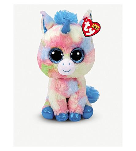 TY Blitz Beanie Boo Buddy unicorn soft toy