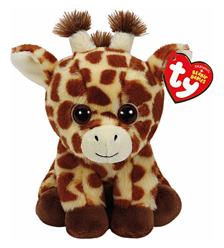 TY Peaches beanie baby giraffe soft toy 15cm