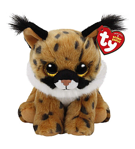 TY Larry beanie baby lynx soft toy 15cm