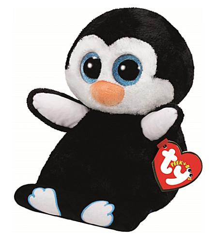 TY Peek-a-Boo Pennie Penguin phone holder