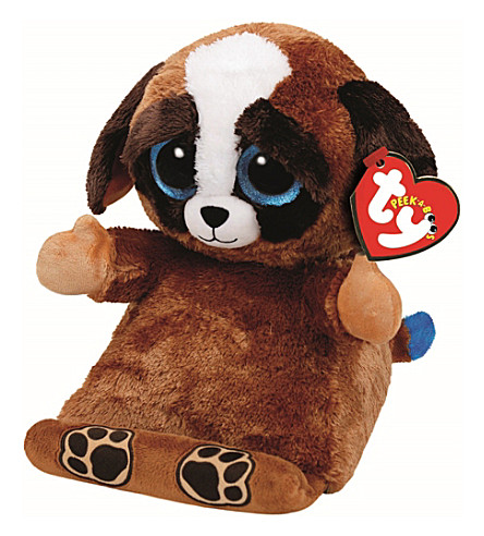 TY Peek-a-Boo Pups dog phone holder