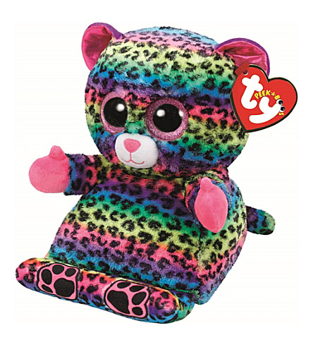 TY Peek-a-Boo Lance leopard phone holder