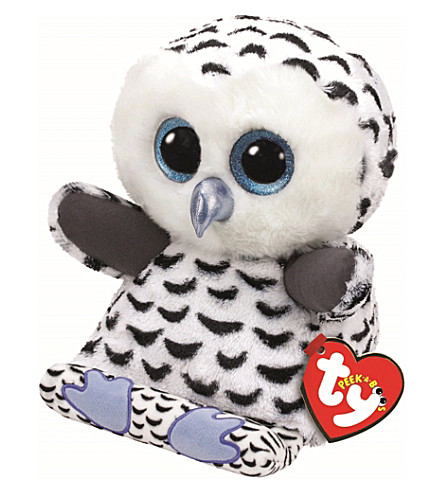 TY Peek-a-Boo Omar Owl phone holder