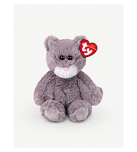 ATTIC TREASURES Ty Kit the Grey Cat plush beanie baby 15cm