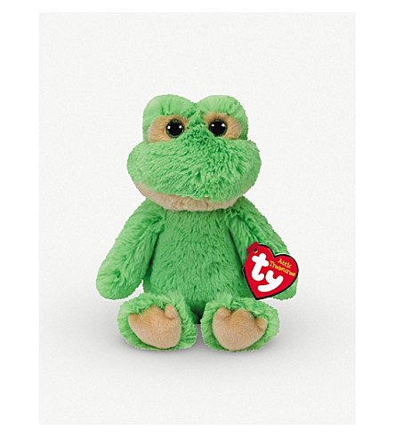 ATTIC TREASURES Ty Floyd the Frog plush beanie baby 15cm