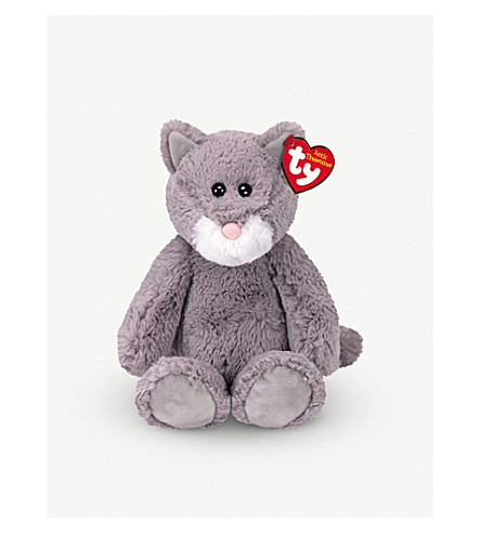 ATTIC TREASURES Ty Kit the grey cat attic plush beanie buddy 21cm