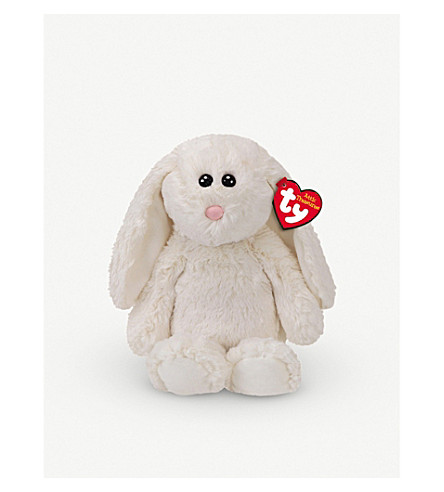 ATTIC TREASURES Ty Pearl the White rabbit plush buddy toy 21cm
