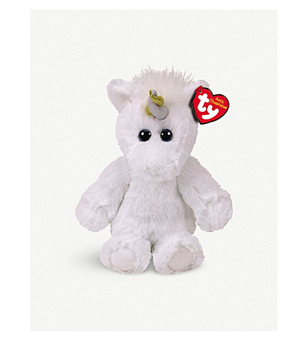 ATTIC TREASURES Ty Agnus the Unicorn beanie buddy 21cm
