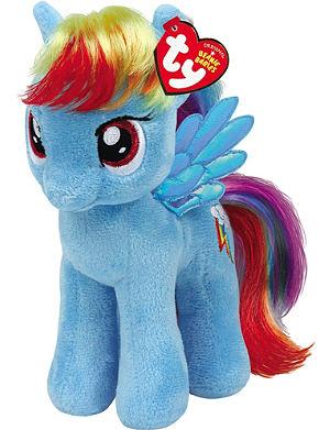 MY LITTLE PONY Rainbow Dash Beanie Baby soft toy 25cm
