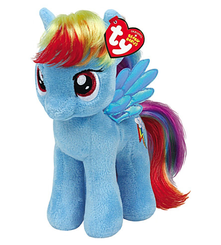 MY LITTLE PONY Rainbow Dash Beanie Baby soft toy 25cm