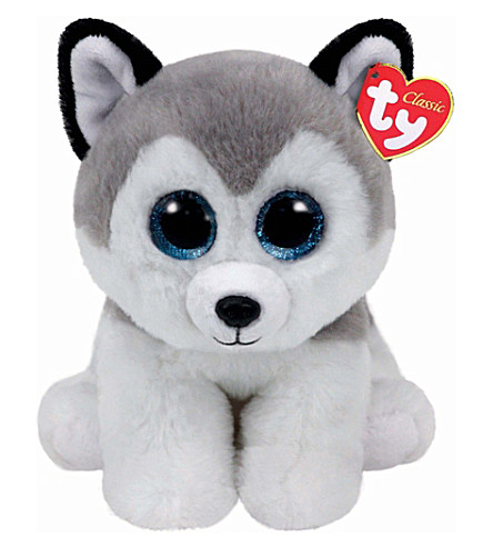 TY Buff wolf beanie baby large