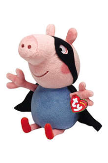PEPPA PIG Peppa George Superhero Beanie Baby soft toy 33cm